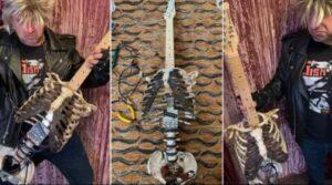 Американец сделал гитару из скелета своего дяди