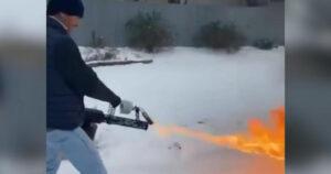 Американцы начали растапливать снег, чтобы помыться