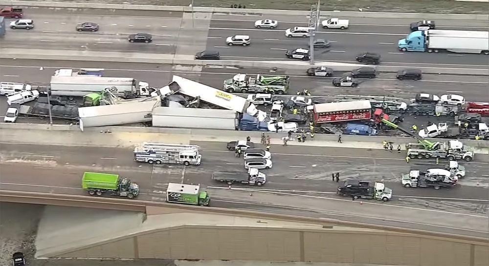 В Техасе столкнулись сразу 100 машин