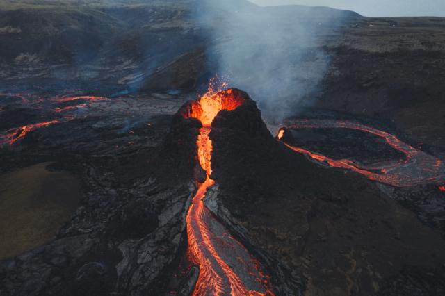 Извержение вулкана Фаградальсфьяль