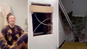 Девушка нашла за зеркалом в ванной потайную квартиру